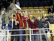 Young fans try to catch a 'flying pizza' during an intermission as the Dayton Gems take on the Flint Generals at Hara Arena, Sunday, November 22, 2009.