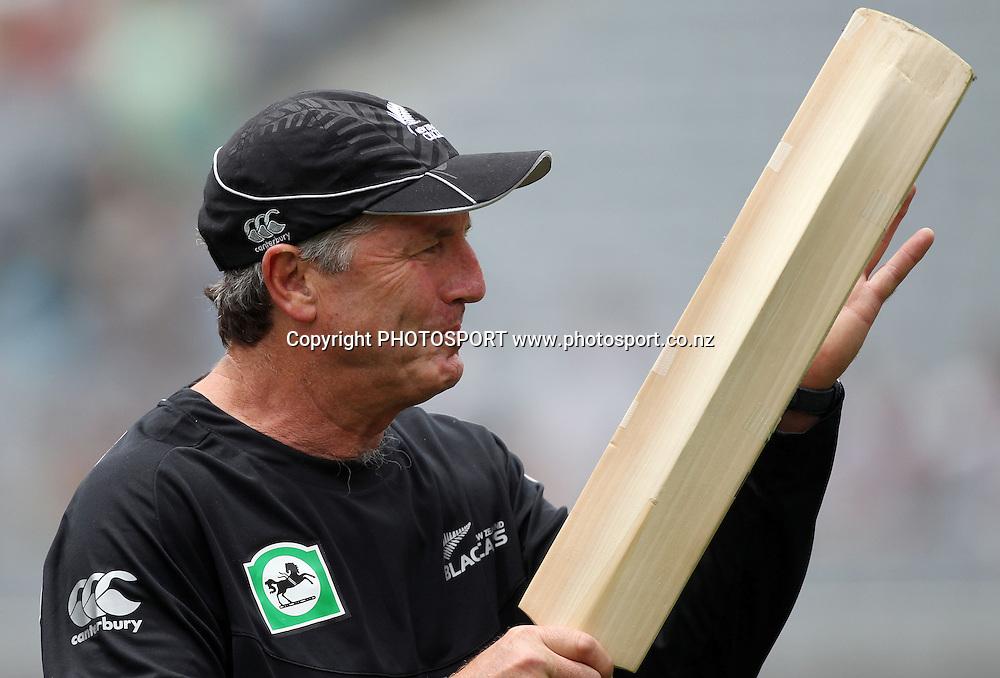 New Zealand coach John Wright. Twenty20 International Cricket match between The New Zealand Black Caps and Pakistan at Eden Park on Boxing Day, Sunday 26 December 2010. Photo: Andrew Cornaga/photosport.co.nz