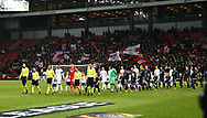 FOOTBALL: The players entering the field before the UEFA Europa League round of 16, first leg, match between FC København and AFC Ajax at Parken Stadium, Copenhagen, Denmark on Marts 9, 2017. Photo: Claus Birch