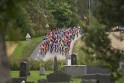 The peloton drops approaches half-way on Stage 2 of the Ladies Tour of Norway - a 140.4 km road race, between Sarpsborg and Fredrikstad on August 19, 2017, in Ostfold, Norway. (Photo by Balint Hamvas/Velofocus.com)