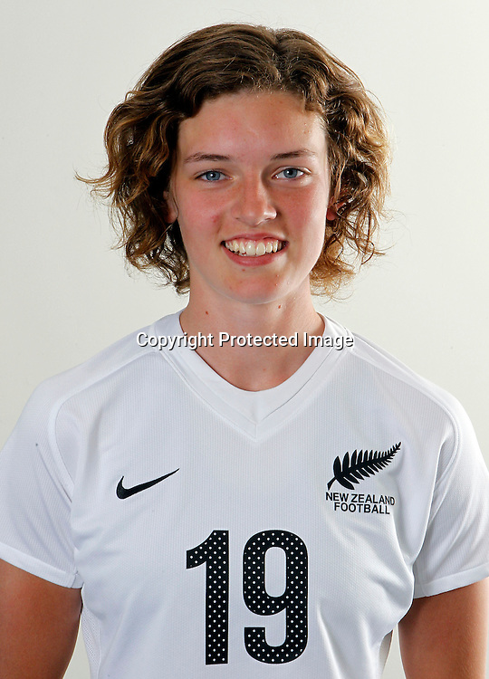 Mary Fraser. Junior Football Ferns Head Shots, Kristen School Albany, Friday 16th December 2011. Photo: Shane Wenzlick