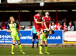 Jimmy Dunne of Accrington Stanley and Seamus Conneely of Accrington Stanley - Mandatory by-line: Robbie Stephenson/JMP - 14/04/2018 - FOOTBALL - Wham Stadium - Accrington, England - Accrington Stanley v Exeter City - Sky Bet League Two