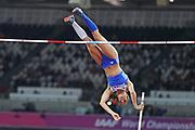 Ekaterini Stefanidi wins Gold at the IAAF World Championships at the London Stadium, London, England on 6 August 2017. Photo by Myriam Cawston.