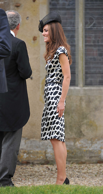 The Wedding of Sam Waley-Cohen to Miss Annabel (Bella) Ballin at St Michael &amp; All Angels Church, Lambourn, Berkshire on 11th June 2011.<br /> Picture Shows:-HRH THE DUCHESS OF CAMBRIDGE