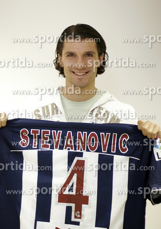 Dalibor Stevanovic of NK Domzale at press conference when he is leaving to FC Real Sociedad,  on November 24, 2005, Domzale, Slovenia.  (Photo by Vid Ponikvar / Sportida)