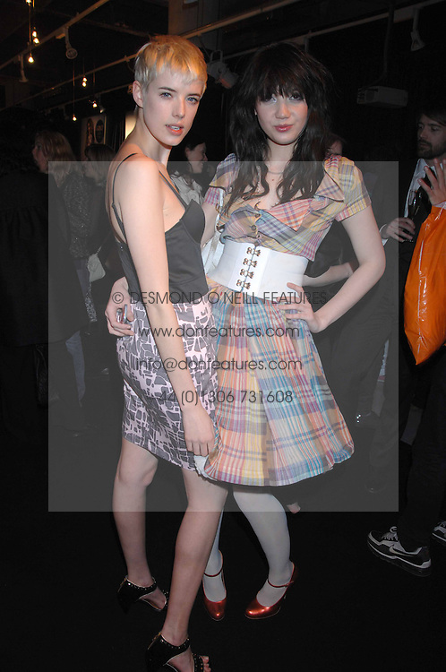 Left to right, model AGYNESS DEYN and DAISY LOWE at the launch of his Gold range for New Look held at their store 500 Oxford Street, London W1 on 12th March 2006.<br /><br />NON EXCLUSIVE - WORLD RIGHTS