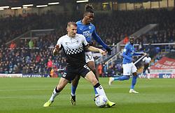 Ivan Toney of Peterborough United in action with Kyle McFadzean of Coventry City - Mandatory by-line: Joe Dent/JMP - 26/10/2019 - FOOTBALL - Weston Homes Stadium - Peterborough, England - Peterborough United v Coventry City - Sky Bet League One
