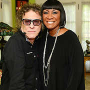 "Legendary rock photographer Mick Rock travels to the home of  the ""Godmother of Soul"", Patti LaBelle during the taping of his upcoming network series On the Record with Mick Rock,  premiering on Ovation TV. (Photo by Lisa Lake/Getty Images for Ovation TV)"