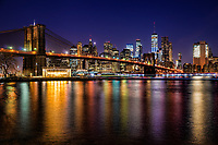 Brooklyn Bridge & Downtown NYC @ Blue Hour