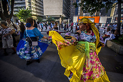 June 4, 2017 - Sao Paulo, Brazil - Gypsies dance on Avenida Paulista on a sunny Sunday afternoon, on June 4, 2017 in Sao Paulo, Brazil. (Credit Image: © Cris Faga/NurPhoto via ZUMA Press)