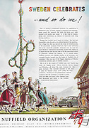 Nuffield Organisation Sweden car advert advertising in Country Life magazine UK 1951