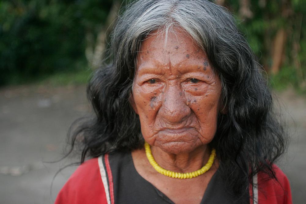 Cofan village Dureno in the Ecuadorian Amazon.