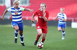 Lauren Hemp of Bristol City Women breaks away from Kirsty McGee of Reading Women - Mandatory by-line: Gary Day/JMP - 22/04/2017 - FOOTBALL - Ashton Gate - Bristol, England - Bristol City Women v Reading Women - FA Women's Super League 1 Spring Series