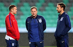 England interim manager Gareth Southgate takes questions talks to Wayne Rooney of England ahead of the World Cup Qualifier against Slovenia - Mandatory by-line: Robbie Stephenson/JMP - 10/10/2016 - FOOTBALL - SRC Stozice - Ljubljana, England - England Press Conference