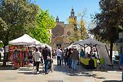 Mercat or market in Placa Octavia, Sant Cugat del Valles, Barcelona