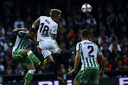 February 28, 2019 - Valencia, Spain - Daniel Wass of Valencia CF  During Spanish King La Copa match between  Valencia cf vs Real Betis Balompie Second leg  at Mestalla Stadium on February 28, 2019. (Photo by Jose Miguel Fernandez/NurPhoto) (Credit Image: © Jose Miguel Fernandez/NurPhoto via ZUMA Press)
