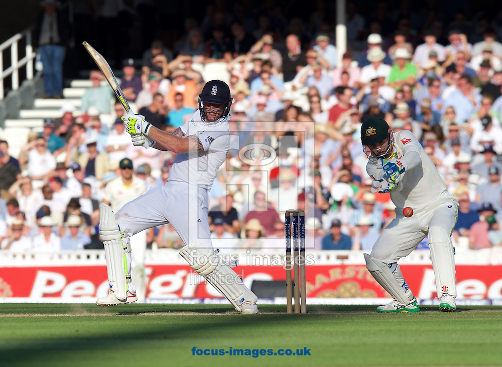 Ben Stokes of England hits a four during the 5th Investec Ashes Test Match match at the Kia Oval, London<br /> Picture by Alan Stanford/Focus Images Ltd +44 7915 056117<br /> 21/08/2015