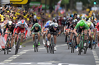 Sykkel<br /> Foto: PhotoNews/Digitalsport<br /> NORWAY ONLY<br /> <br /> Sprint of (fltr) BOASSON HAGEN Edvald of MTN - Qhubeka, KRISTOFF Alexander of Team Katusha, CAVENDISH Mark of Etixx - Quick Step, GREIPEL Andre of Lotto Soudal, DEGENKOLB John of Team Giant - Alpecin and SAGAN Peter of Tinkoff - Saxo during the stage 5 of the 102nd edition of the Tour de France 2015 with start in Arras and finish in Amiens, France (189 kms) *** AMIENS, FRANCE - 8/07/2015