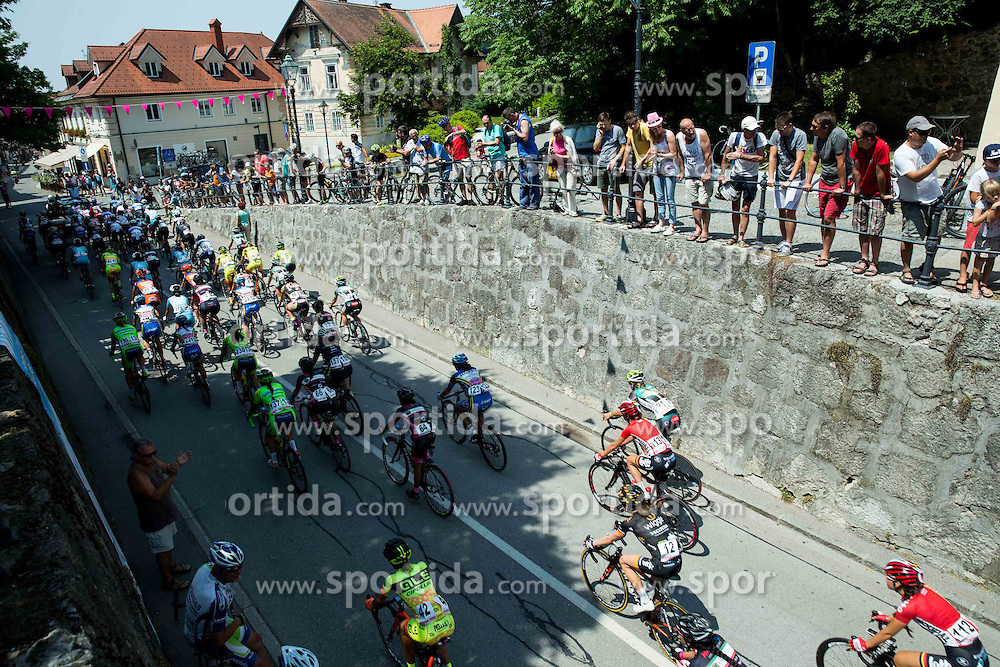 Riders at start during the Stage 1 (102,5 km) from Kamnik to Ljubljana at 26th Giro Rosa 2015 Women cycling race, on July 4, 2015 in Kamnik,  Slovenia. Photo by Vid Ponikvar / Sportida