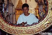 traditional music at temple, Bangkok, Thailand