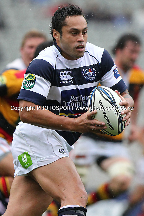 Auckland's Ben Atiga in action. ITM Cup rugby union match, Auckland v Waikato at Eden Park, Auckland, New Zealand. Saturday 7th August 2010. Photo: Anthony Au-Yeung/PHOTOSPORT