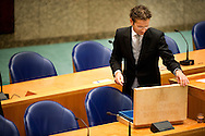 THE HAGUE - Dutch minister of Finance Jeoren Dijsselbloem with his  budgetday suitcase . COPYRIGHT ROBIN UTRECHT