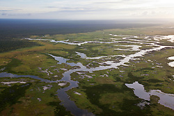 Water settles over Roebuck Plains to the southwest of Broome.