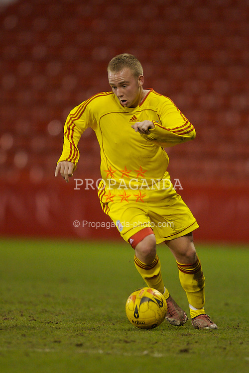 Sheffield, England - Thursday, February 15, 2007: Liverpool's Ray Putterill in action against Sheffield United during the FA Youth Cup Quarter-Final match at Bramall Lane. (Pic by David Rawcliffe/Propaganda)