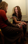 Venetia Deardon and Alice Temperley, Temperley and 02 launch party, 33 Portland Place. 24 November 2004. ONE TIME USE ONLY - DO NOT ARCHIVE  © Copyright Photograph by Dafydd Jones 66 Stockwell Park Rd. London SW9 0DA Tel 020 7733 0108 www.dafjones.com