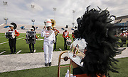 Members of the Scarborough Marching Band perform during the Houston ISD Marching Band Festival at Delmar Stadium, October 11, 2016.
