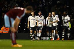 Ross McCormack of Fulham scores, Fulham 1-1 Burnley - Mandatory by-line: Jason Brown/JMP - Mobile 07966 386802 08/03/2016 - SPORT - FOOTBALL - Fulham, Craven Cottage - Fulham v Burnley - Sky Bet Championship