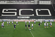 Argentina warm up during the Argentina training session at the Est&aacute;dio S&atilde;o Janu&aacute;rio, Rio de Janeiro, ahead of tomorrow's World Cup Final.<br /> Picture by Andrew Tobin/Focus Images Ltd +44 7710 761829<br /> 12/07/2014