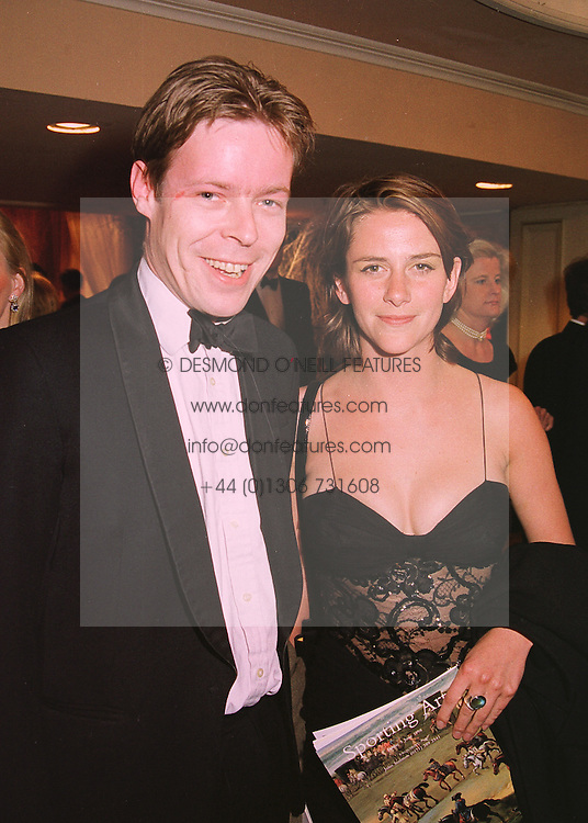 LORD (GEORGE) BINGHAM son of the missing Earl of Lucan and MISS KATRINA BOVILL, at a ball in London on 21st May 1998.MHW 33