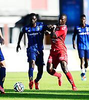 Fotball , 18. juli 2014 , Eliteserien , Tippeligaen<br /> Stabæk - Brann 1-1<br /> <br /> Stephane Badji , Brann<br /> Enock Kofi Adu , Stabæk