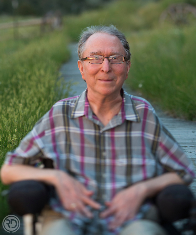 Tom Morgan poses for a portrait on July 3, 2013 at his home near Bozeman, MT.  (Photograph © Ross Dettman)
