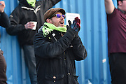 Forest Green Rovers fan during the Vanarama National League match between Barrow and Forest Green Rovers at Holker Street, Barrow, United Kingdom on 28 January 2017. Photo by Mark Pollitt.