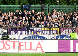 Viole, fans of Maribor at 13th Round of Prva Liga football match between NK Olimpija and Maribor, on October 17, 2009, in ZAK Stadium, Ljubljana. Maribor won 1:0. (Photo by Vid Ponikvar / Sportida)