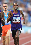 Mohammed Ahmed aka Mo Ahmed (CAN) places second in the 3,000m in 7:57.99 during the IAAF Continental Cup 2018 at Mestky Stadion in Ostrava, Czech Republic, Sunday, Sept. 9, 2018. (Jiro Mochizuki/Image of Sport)