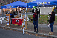 Pine Bush, New York - People set up booths for the Community Country Christmas presented by the Pine Bush Chamber of Commerce on Dec. 1, 2012.