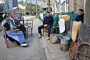 People re-enacting life in Urk village, Zuiderzee museum, Enkhuizen, netherlands