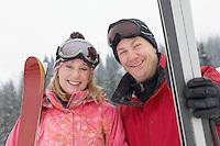 Happy Couple on the Ski Slope