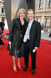 THERESA MAY MP and her husband PHILIP MAY at the Royal Academy of Art Summer Exhibition Preview Party on 4th June 2008.<br />