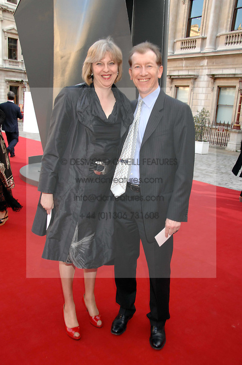 THERESA MAY MP and her husband PHILIP MAY at the Royal Academy of Art Summer Exhibition Preview Party on 4th June 2008.<br /><br />NON EXCLUSIVE - WORLD RIGHTS