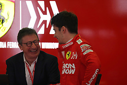 May 11, 2019 - Montmelò.Montmel&#Xf2, Catalunya, Spain - xa9; Photo4 / LaPresse.11/05/2019 Montmelo, Spain.Sport .Grand Prix Formula One Spain 2019.In the pic: Louis Carey Camilleri, CEO of Ferrari and Charles Leclerc (MON) Scuderia Ferrari SF90 (Credit Image: © Photo4/Lapresse via ZUMA Press)