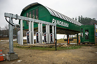 """Gunstock is implementing a new """"RFID"""" radio frequency identification system as seen located at the base of the Panorama lift for their upcoming 2017/2018 ski season.  (Karen Bobotas/for the Laconia Daily Sun)"""
