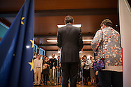 French ambassador Thierry Dana speaks to the people at French Embassy on July 15, 2016 in Tokyo, Japan. At least 84 people were killed when a truck ploughs into crowd celebrating in Bastille Day in the city of Nice. 15/07/2016-Tokyo, JAPAN