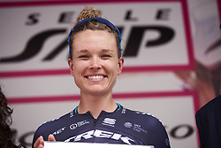 Second place finish for Tayler Wiles (USA) at Giro Rosa 2018 - Stage 5, a 122.6 km road race starting and finishing in Omegna, Italy on July 10, 2018. Photo by Sean Robinson/velofocus.com