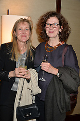 Left to right, MILLY ST.AUBYN and SOPHIE MANHAM at a private screening of The Anonymous People in aid of Action on Addiction held at The Bulgari Hotel, 171 Knightsbridge, London on 20th May 2015.