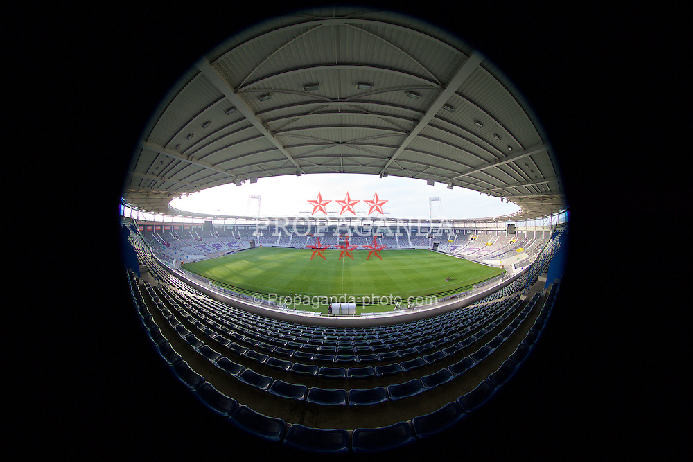 TOULOUSE, FRANCE - Tuesday, January 26, 2016: A general view of the Stadium de Toulouse during a Wales inspection visit ahead of the UEFA Euro 2016 Tournament. (Pic by David Rawcliffe/Propaganda)