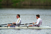 Hazenwinkel, Belgium. British Inaternational Rowing Senior trials.  11.04.2001 Matt Pinsent (l) and James Cracknell.Photo: Peter Spurrier..Ed Coode.. ©  Intersport Images  Photo: Peter Spurrier.. [Mandatory Credit; Peter Spurrier/Intersport Images] 200104  GB Rowing Senior Trails, Hazewinkel BELGIUM